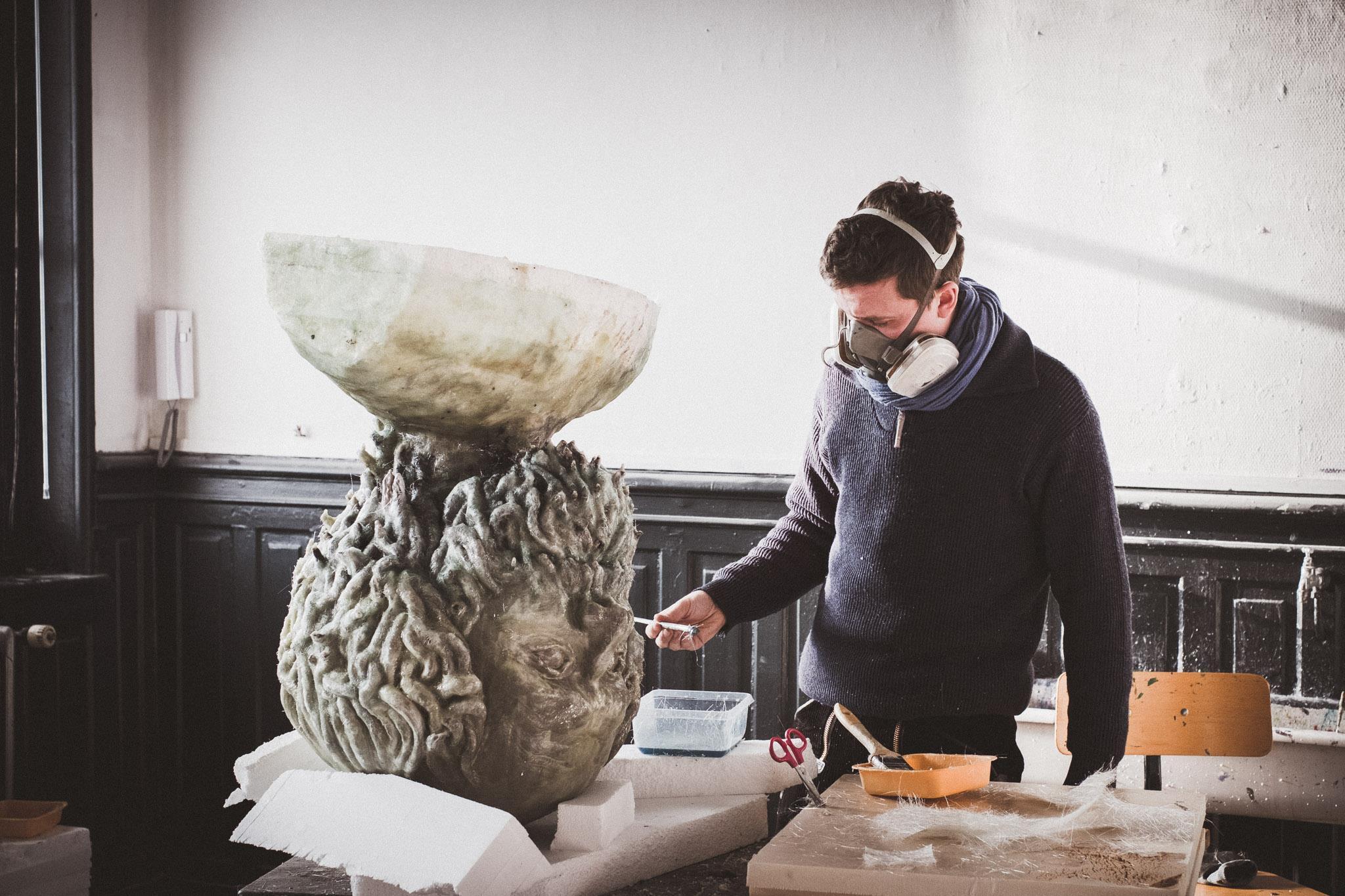 Création de géant pour la ville de Roubaix par Simon Bouckson - mars 2017