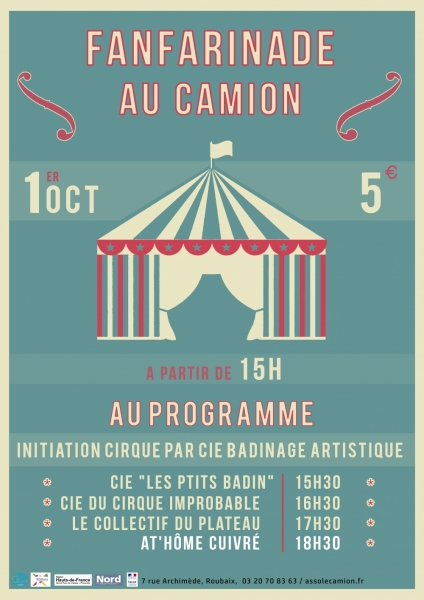 Spectacle: Fanfarinade au Camion – 1 OCT