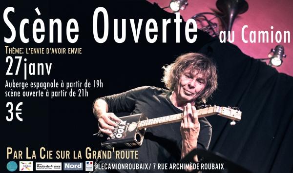 Concert : Scène Ouverte au Camion – 27 JANV