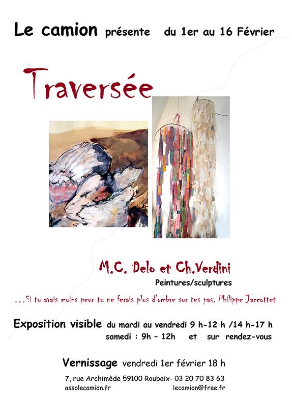 M.C. Delo et Ch.Verdini Traversée - Peintures/sculptures